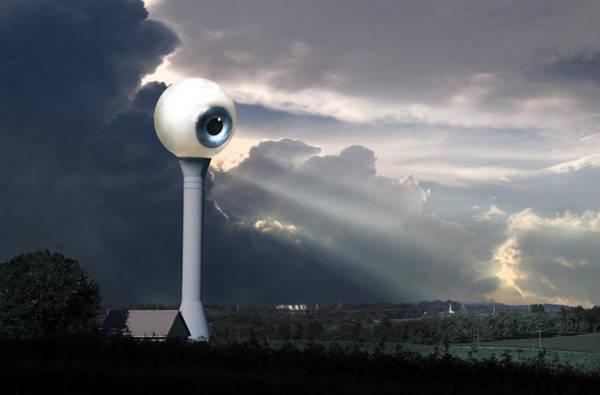 Digital Art - All Seeing Eye by Rick Mosher