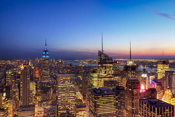 Photograph - All That Glitters Is Gold - New York City Skyline by Mark Tisdale