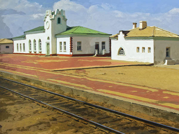 Railroad Station Painting - All That's Left by Dominic Piperata