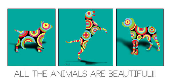Terrier Digital Art - All The Animal Are Beautiful  by Mark Ashkenazi