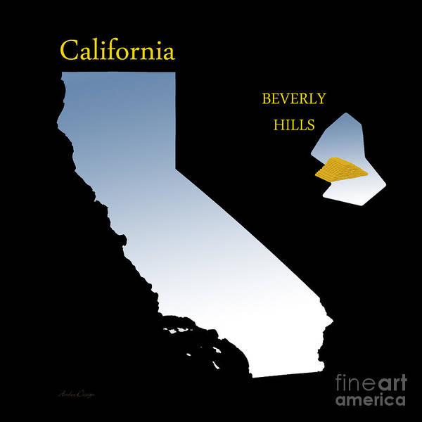 Digital Art - All The Gold In California by Andee Design