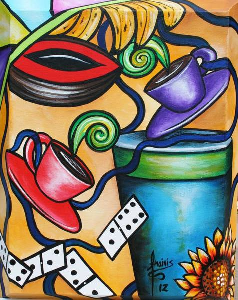 Wall Art - Painting - All Together Good by Annie Maxwell