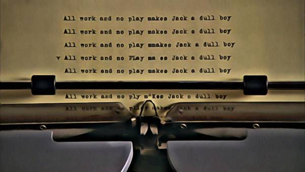 Painting - All Work And No Play Makes Jack A Dull Boy by Florian Rodarte