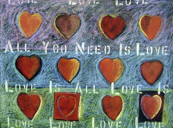 Musical Theme Painting - All You Need Is Love by Gerry High
