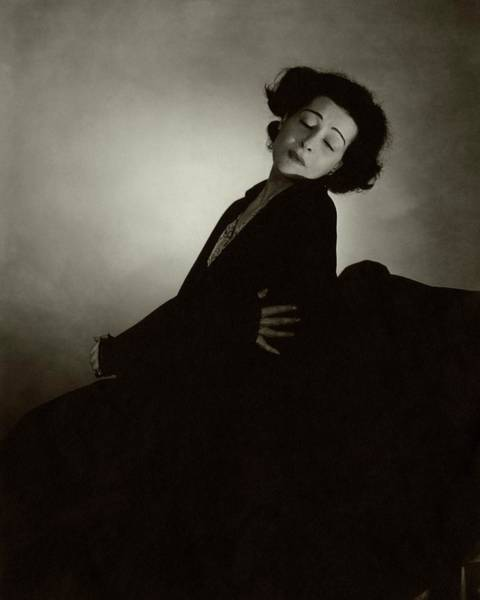 Photograph - Alla Nazimova With Her Eyes Closed by Edward Steichen