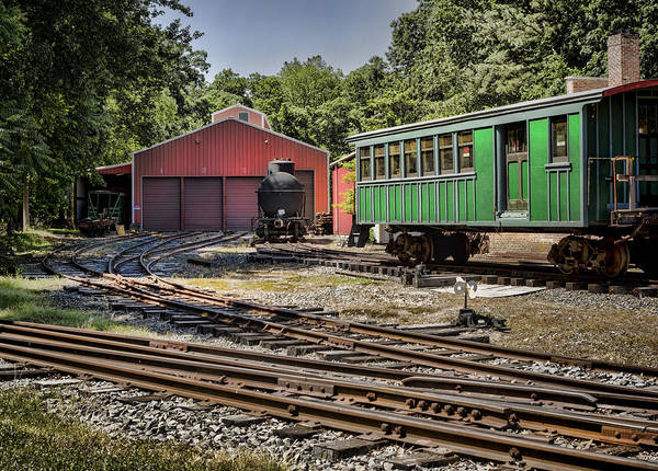 Photograph - Allaire Rail Yard by Heather Applegate