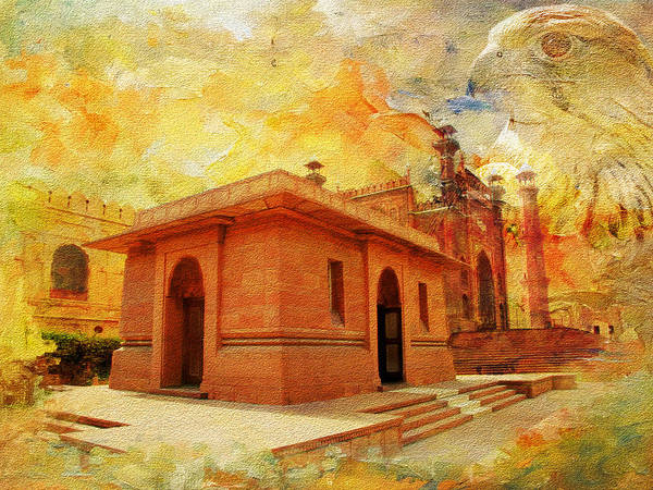 Wall Art - Painting - Allama Iqbal Tomb by Catf