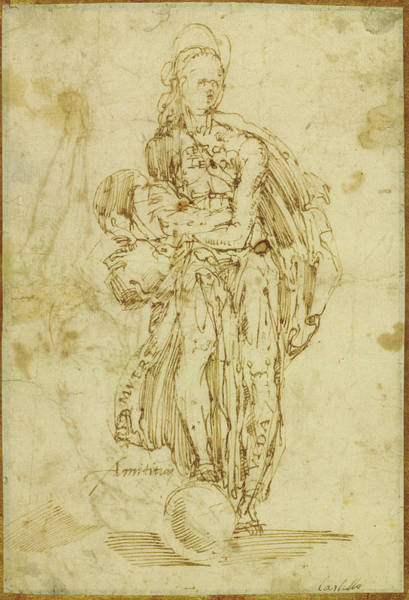 Allegorical Figure Drawing - Allegorical Figure Of Friendship Recto by Litz Collection