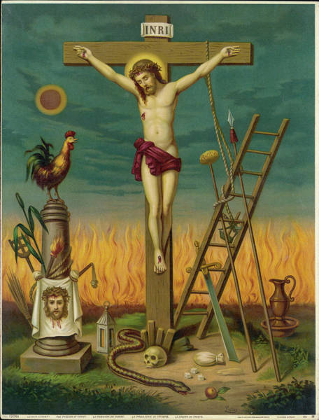 Wall Art - Drawing - Allegory Of Jesus Crucified, Surrounded by Mary Evans Picture Library