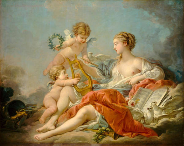 Francois Boucher Painting - Allegory Of Music by Francois Boucher