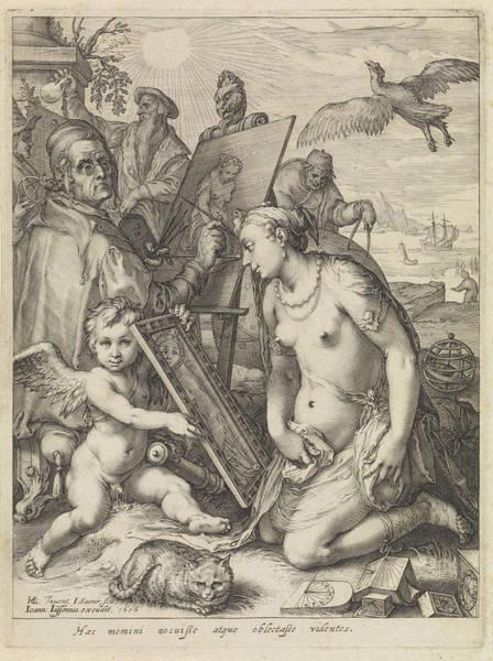 Wall Art - Painting - Allegory Of Perception, Jan Saenredam, Johannes Janssonius by Jan Saenredam And Johannes Janssonius