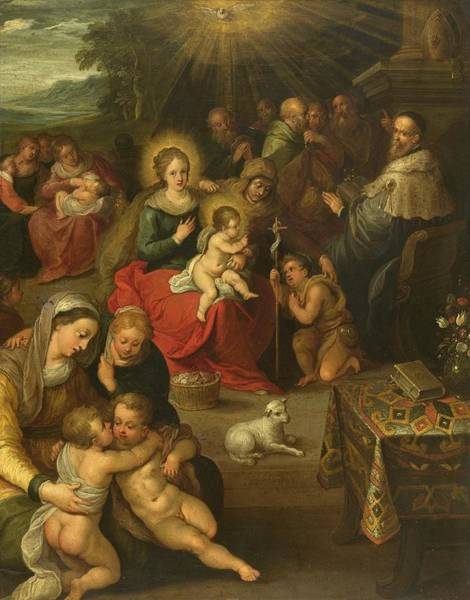 Lamb Of God Wall Art - Painting - Allegory Of The Christ Child As The Lamb Of God by Frans Francken