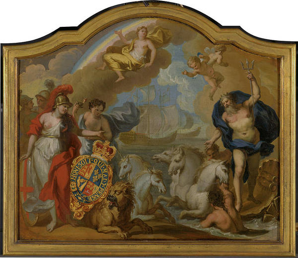 Wall Art - Painting - Allegory Of The Power Of Great Britain By Sea by Litz Collection