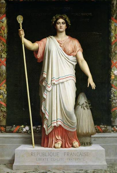 Staff Photograph - Allegory Of The Republic, 1848 Oil On Canvas by Dominique Louis Papety