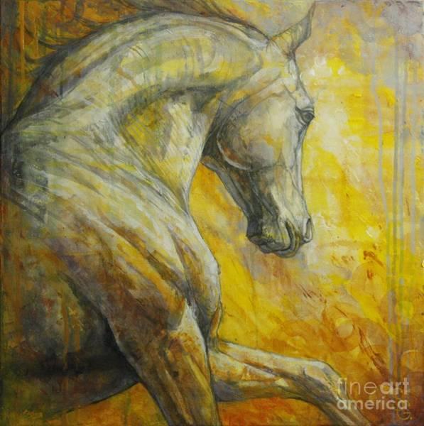 Running Horses Painting - Allegro by Silvana Gabudean Dobre