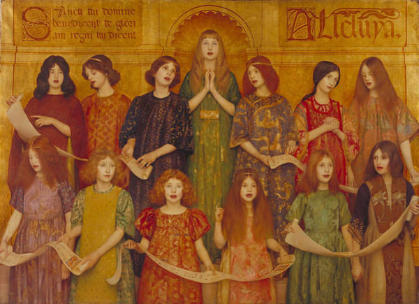 Painting - Alleluia by Thomas Cooper Gotch