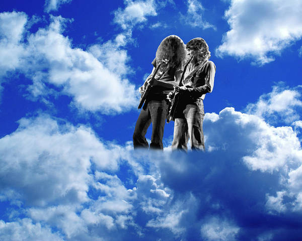 Photograph - Allen And Steve In Clouds by Ben Upham