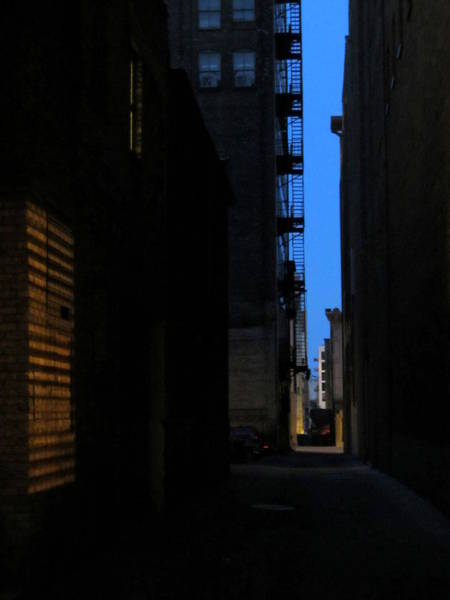 Photograph - Alley At Night by Anita Burgermeister