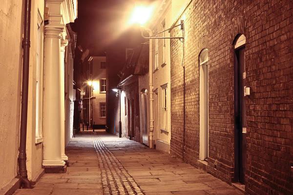 Alley At Night Art Print