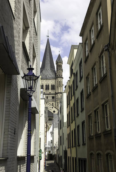 Germania Photograph - Alley In Cologne Germany by Teresa Mucha