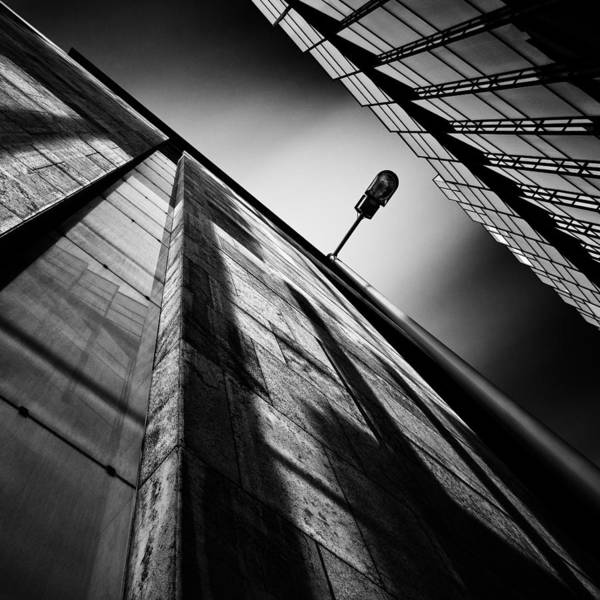 Photograph - Alley Lamp by Dave Bowman