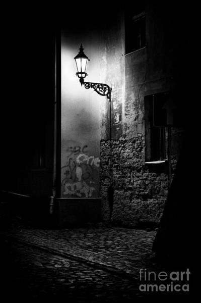 Wall Art - Photograph - Alley Of Prague In Black And White by Jaroslaw Blaminsky