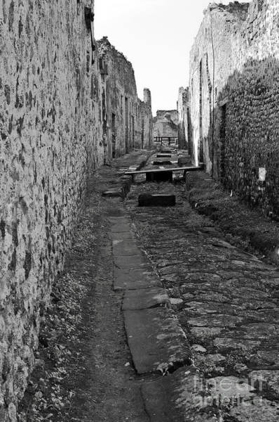 Roman Wall Photograph - Alleyway by Marion Galt