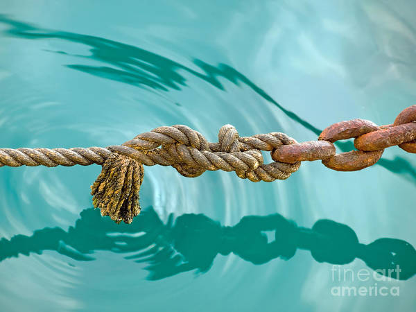 Chain Link Photograph - Alliance by Sinisa Botas