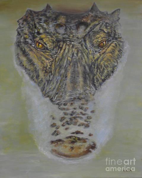 Painting - Alligator Alert by Nancy Lauby