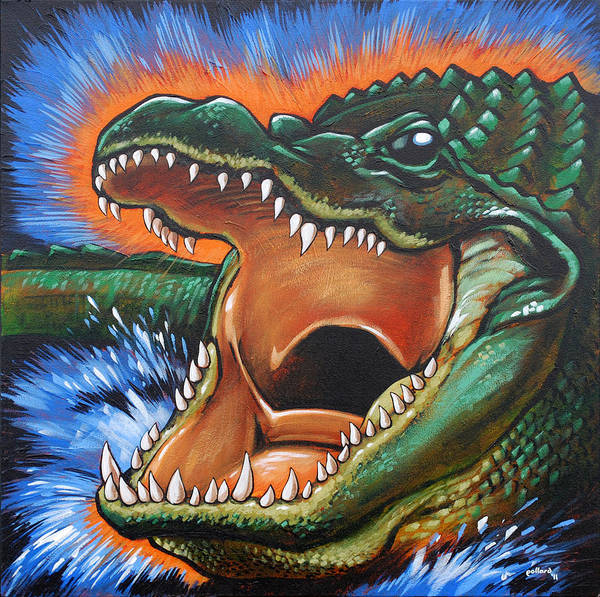 Painting - Alligator by Glenn Pollard