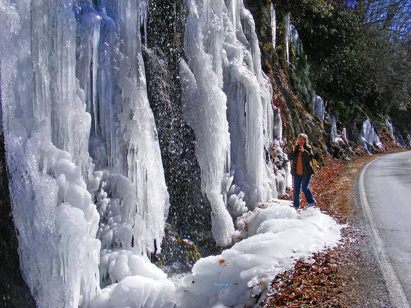 Photograph - Alligator Rock Waterfall Frozen 2 by Duane McCullough