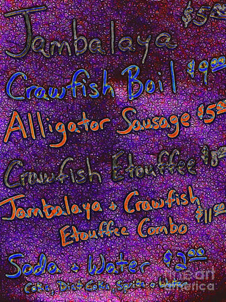 Craw Wall Art - Photograph - Alligator Sausage For Five Dollars 20130610 by Wingsdomain Art and Photography