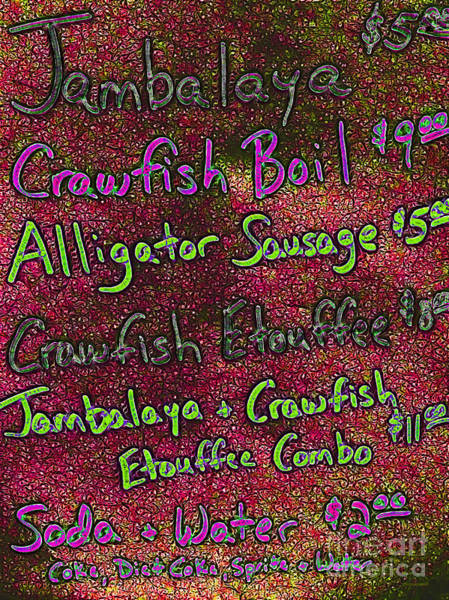 Craw Wall Art - Photograph - Alligator Sausage For Two Dollars 20130610p68 by Wingsdomain Art and Photography