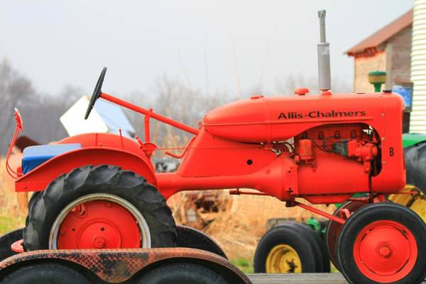 Photograph - Allis Chalmers Red Mower by Dan Sproul