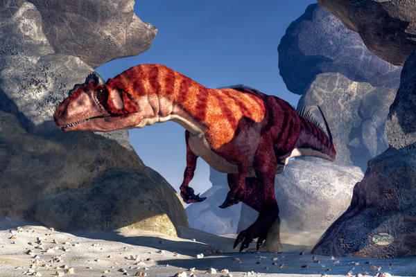 Digital Art - Allosaurus by Daniel Eskridge