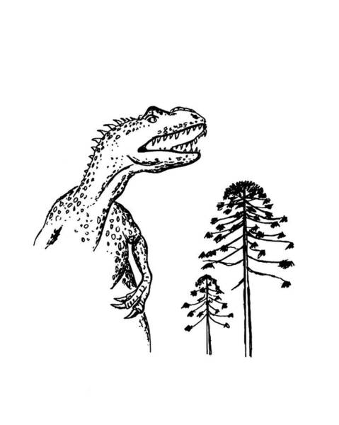 Allosaurus Art Print by Richard Bizley