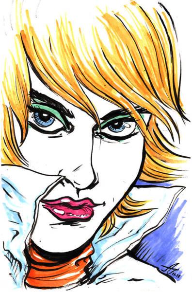 Babe Drawing - Allure by John Ashton Golden