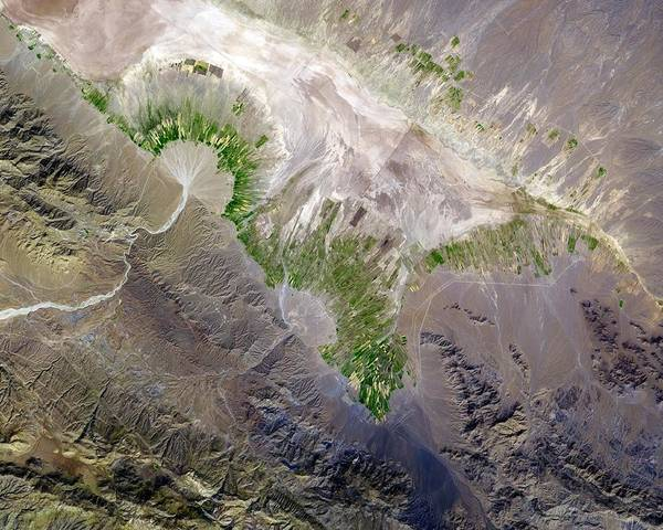 River Delta Photograph - Alluvial Fan And Fields by Nasa/gsfc/meti/ersdac/jaros/aster Science Team/science Photo Library