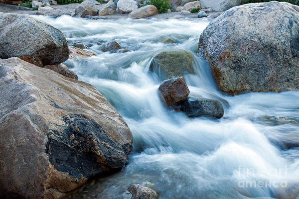 Photograph - Alluvial Fan Falls On Roaring River Inrocky Mountain National Park by Fred Stearns