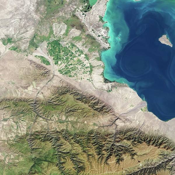Deposit Photograph - Alluvial Fan by Nasa Earth Observatory