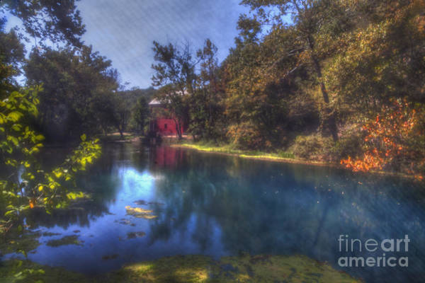 Riverway Photograph - Ally Springs Mill  The Fall by Larry Braun