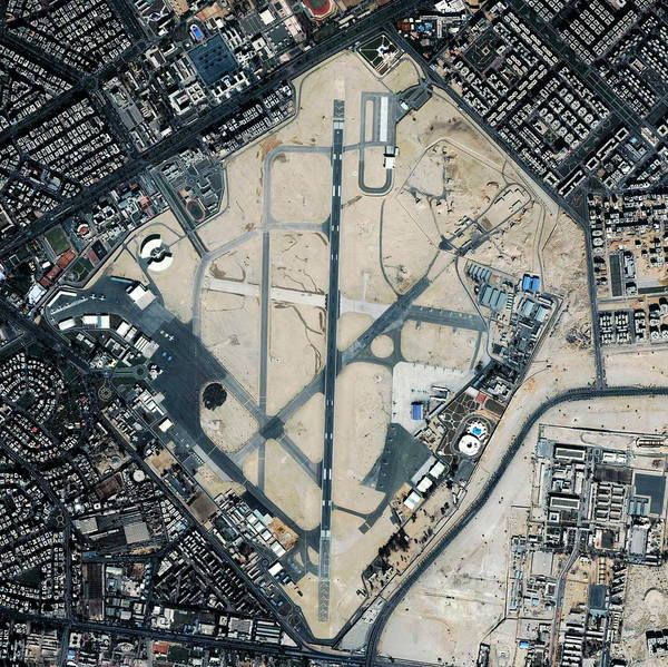 Runway Photograph - Almaza Airport by Geoeye/science Photo Library