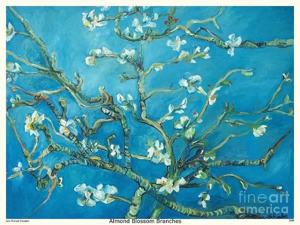 Almond Blossom Branches Print Art Print