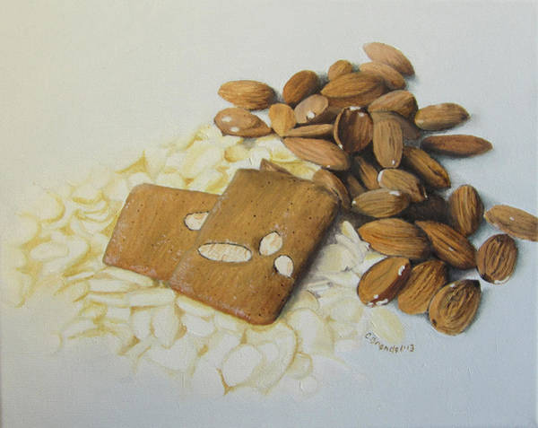 Wall Art - Painting - Almond Cookies by Cecilia Brendel