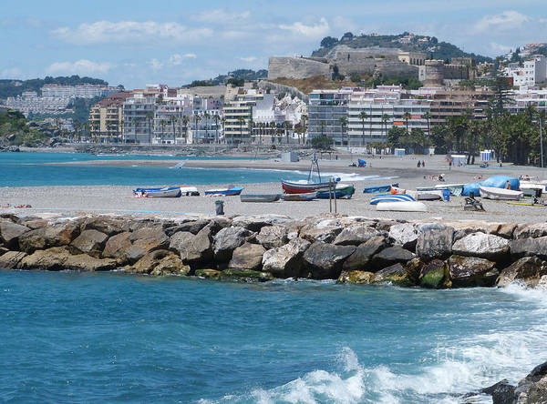 Photograph - Almunecar Beach And Castle by Phil Banks