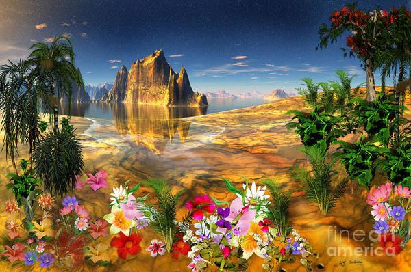Wall Art - Digital Art - Aloha Hawaiian Paradise Beaches   by Heinz G Mielke