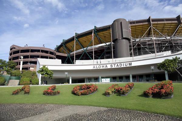 Wall Art - Photograph - Aloha Stadium by Brandon Tabiolo