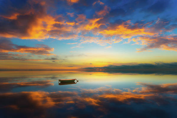 Alone Photograph - Alone In A Colorful World by Piotr Krol (bax)