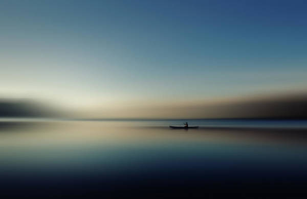 Rowing Photograph - Alone In Somewhere by Cie Shin
