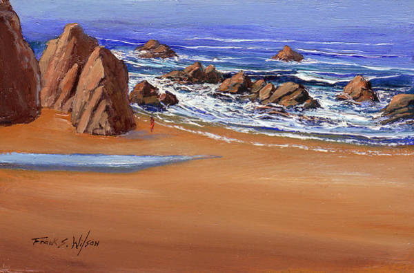 Painting - Alone On The Beach by Frank Wilson